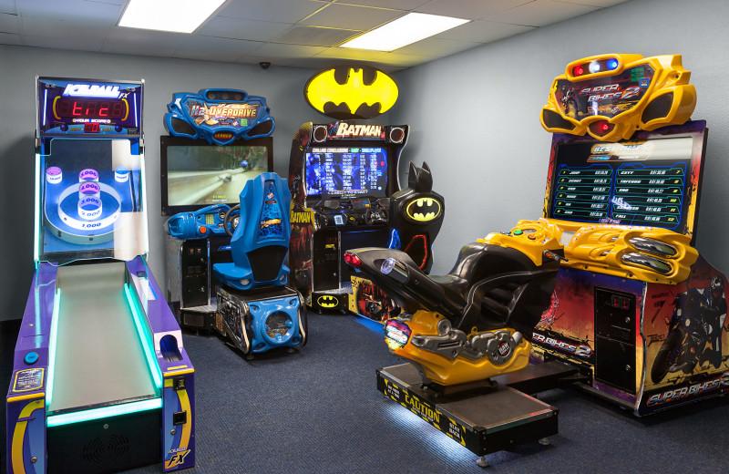 Arcade room at Ocean Reef Resort.