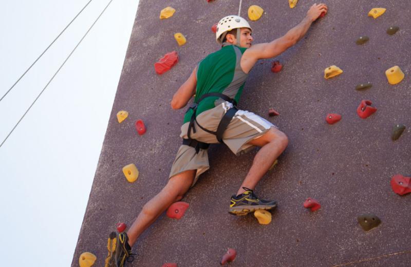 Rock climbing wall at Canyon Ranch Tucson.