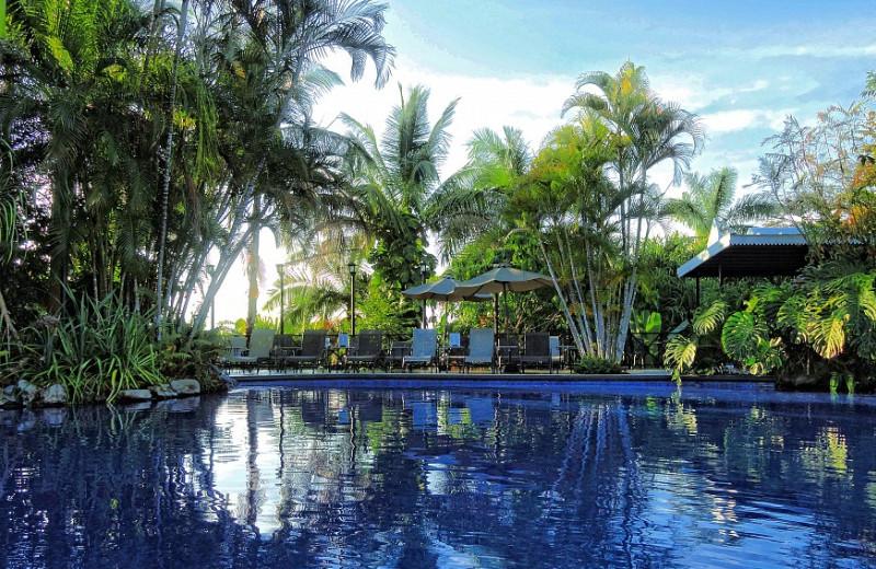 Outdoor pool at Villa Caletas.