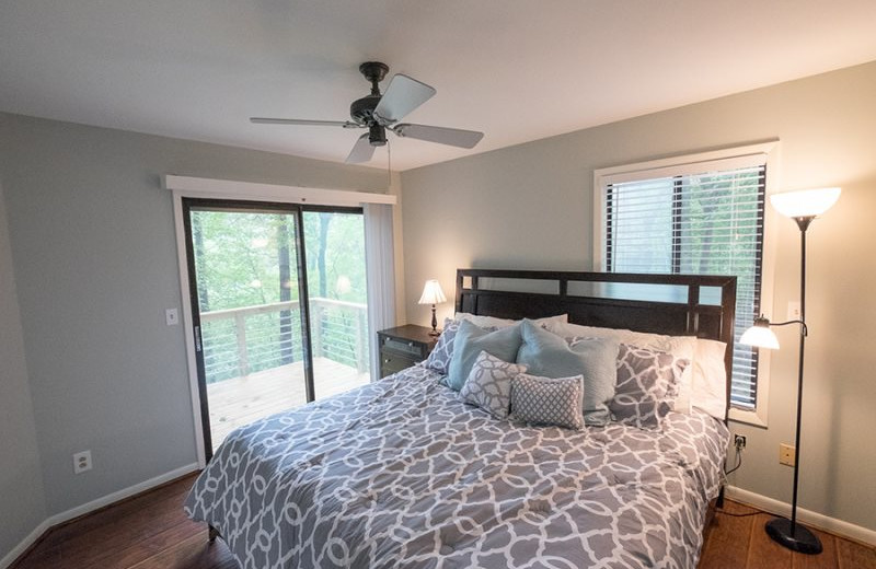 Rental bedroom at Mountain Vista Rentals.