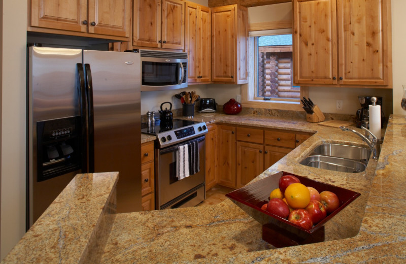 Guest kitchen at Temperance Landing on Lake Superior.