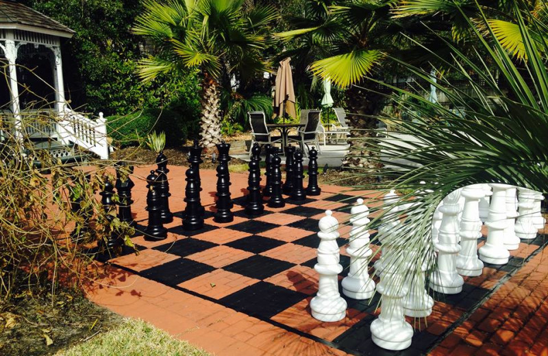 Giant chess at The Hoyt House.