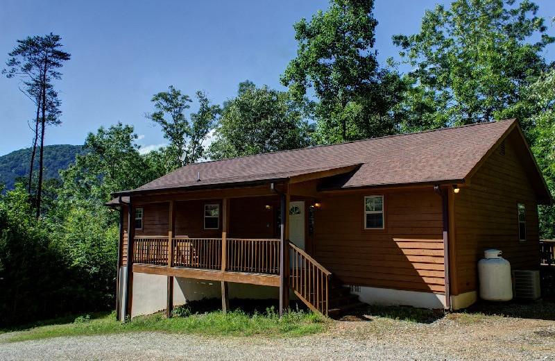 Cabin exterior at Georgia Mountain Rentals.