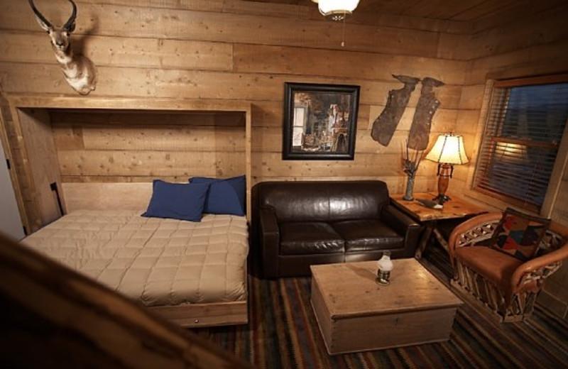 Bedroom at Cottonwood Meadow Lodge.