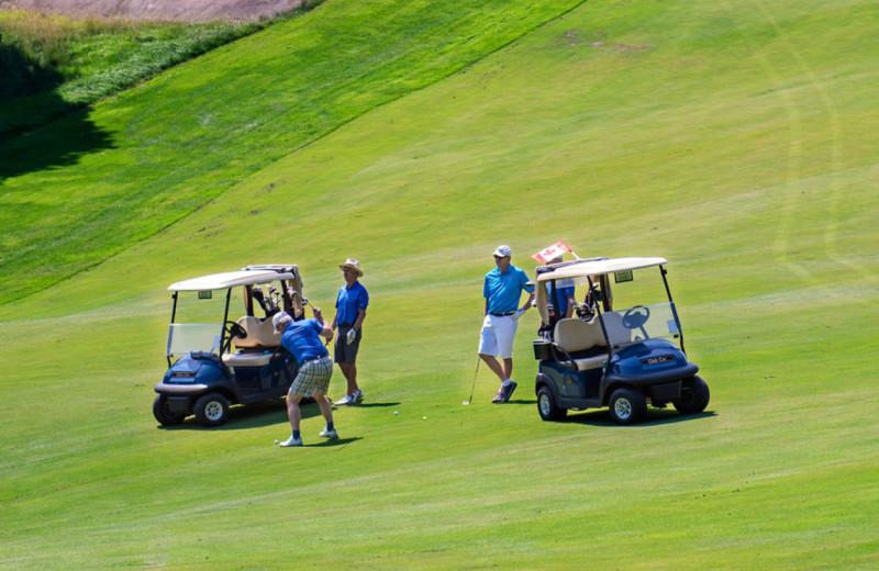 Golf course at Port Cunnington Lodge.