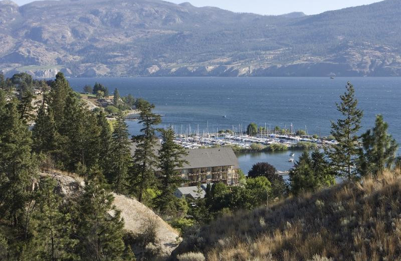 Aerial view of Summerland Waterfront Resort.