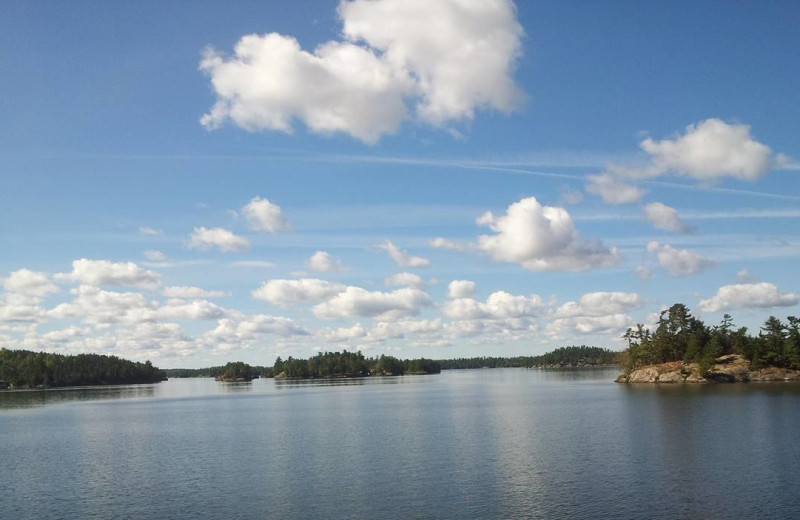 Lake view at Fishing Pipestone Point Resort.