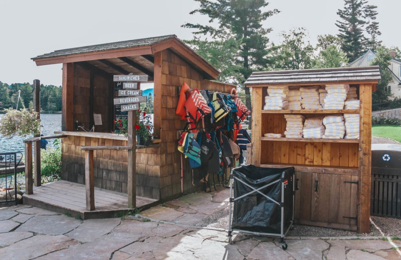 Lake activities at Golden Arrow Lakeside Resort.