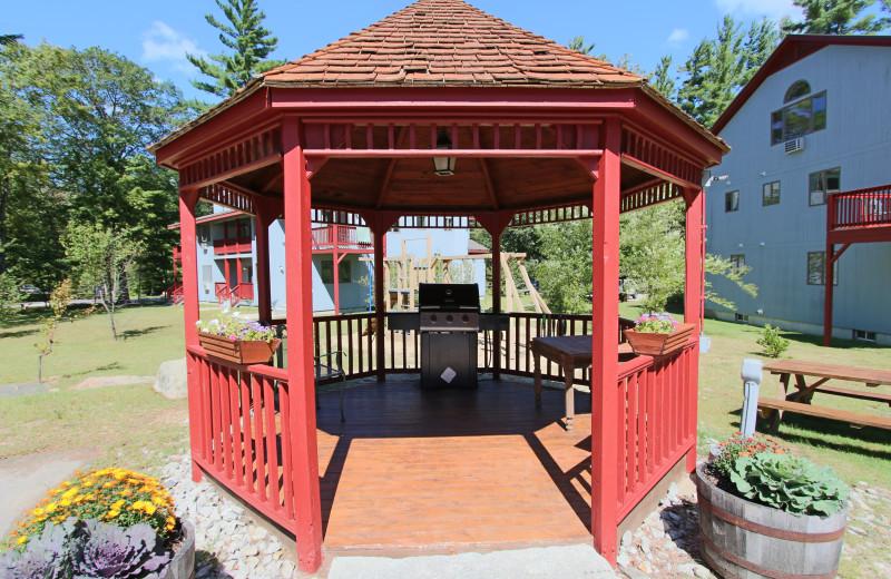 Gazebo at Attitash Mountain Village Resort.