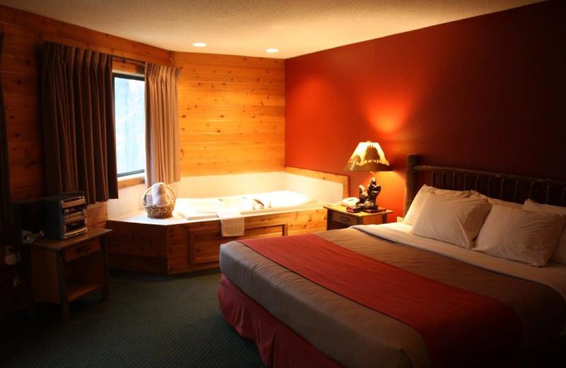 Guest room at The Lodge at Crooked Lake.