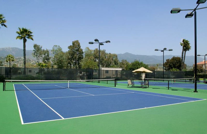 Tennis courts at Fess Parker's Doubletree Resort.