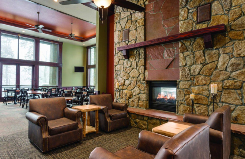 Lobby lounge at Grand Timber Lodge.