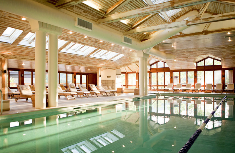 Indoor pool at Topnotch Resort.