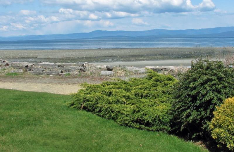 Beach view from The Shorewater Resort.