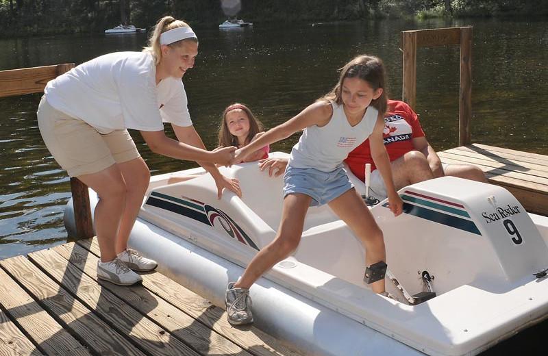 Water activities at Lake George RV Park.