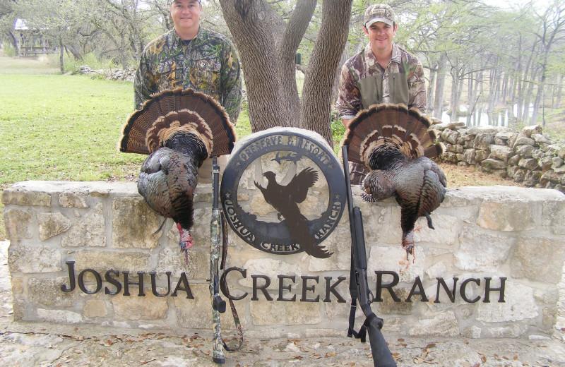 Turkey hunting at Joshua Creek Ranch.