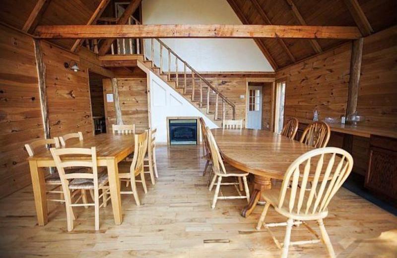 Cabin interior at Red River Gorge Cabin Company.