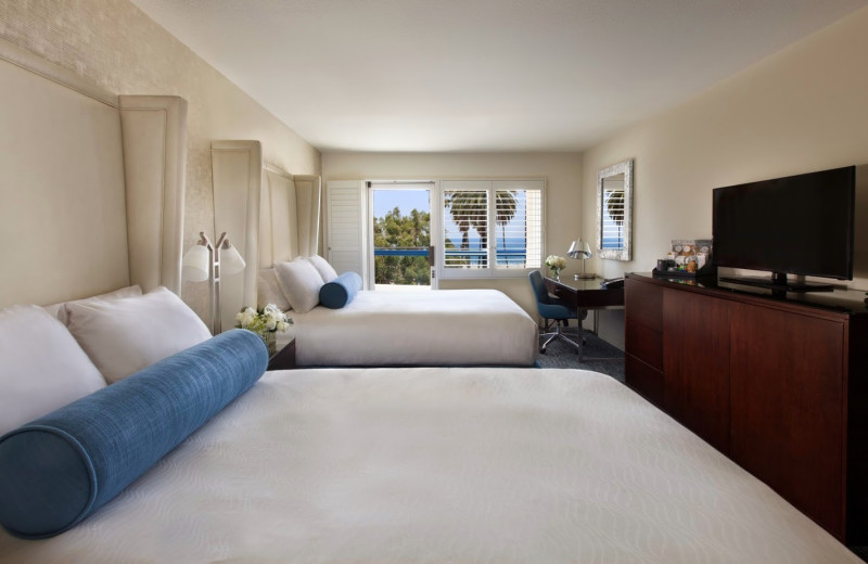 Guest room at Ocean View Hotel.