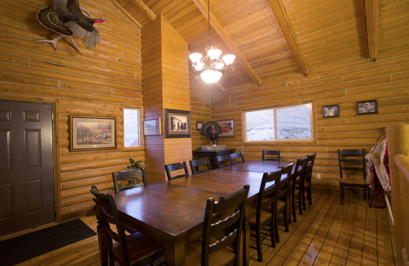 Dining room at Castle Valley Outdoors.