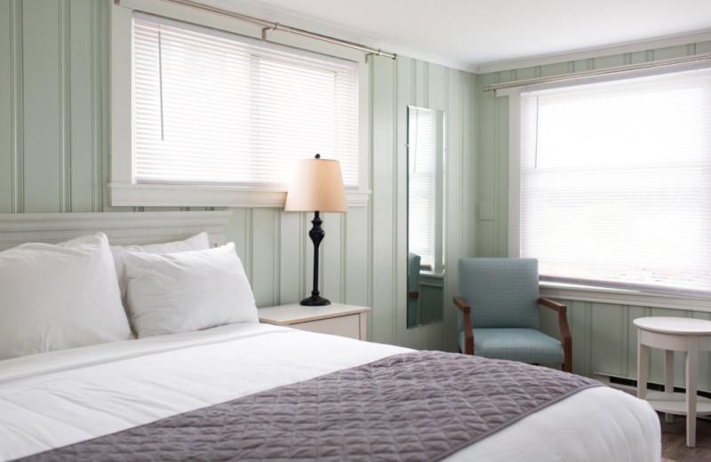 Cottage bedroom at Sebasco Harbor Resort.