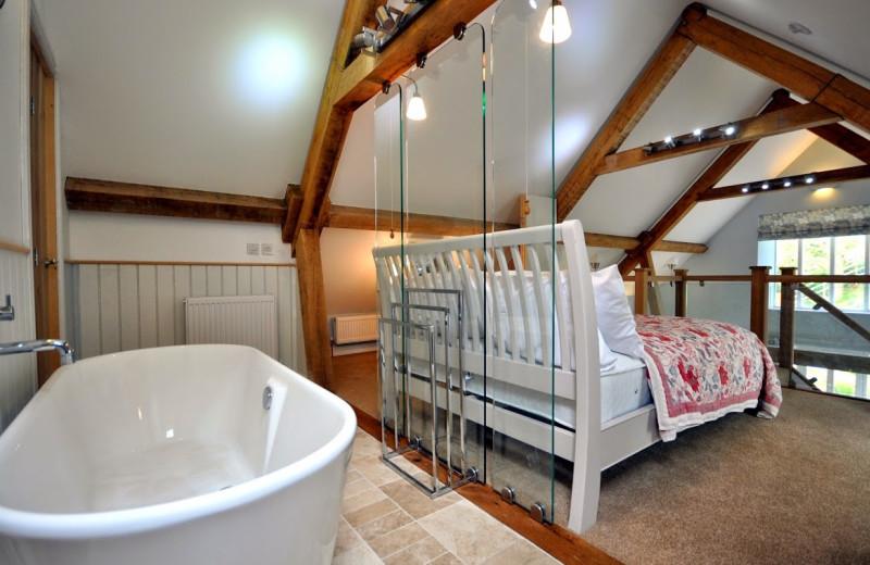 Rental bedroom at Dream Cottages.