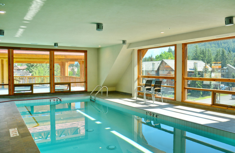 Indoor pool at Moose Hotel & Suites.