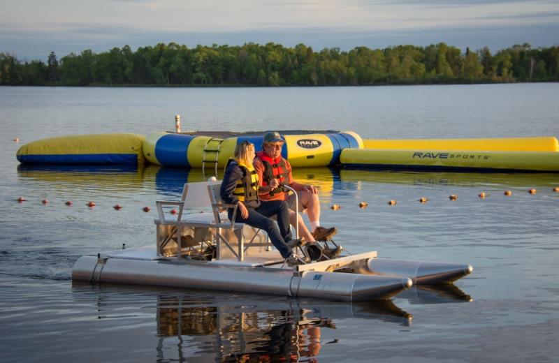 Paddle boat at Bear Paw Resort.