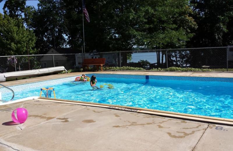 Outdoor pool at Tetonka Lake Resort.