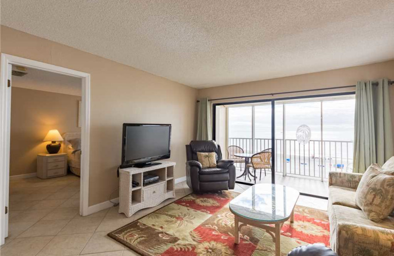 Rental living room at Beach Place Condominiums.