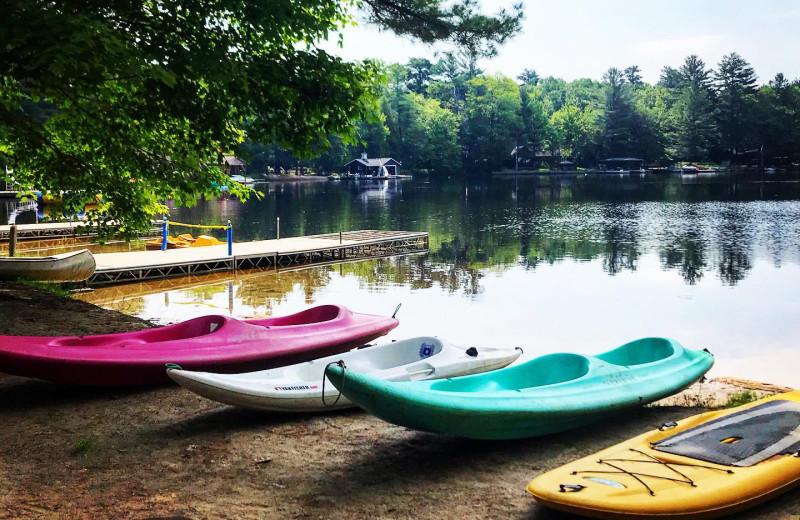 Kayaks at Patterson Kaye Resort.