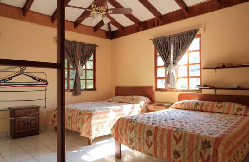 Guest room at Hotel Las Tres Banderas.