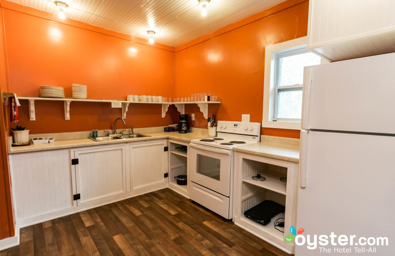 Kitchen at Birchcliff Resort.