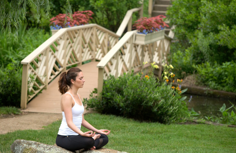 Yoga at Boar's Head Resort.