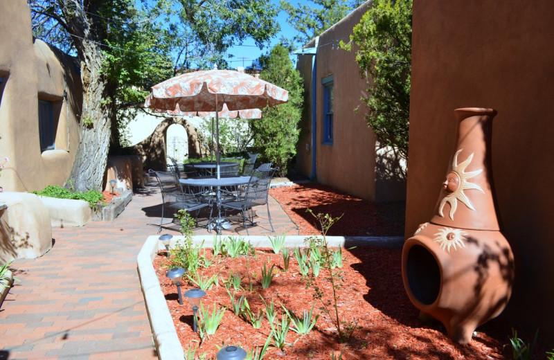 Outdoor patio at Pueblo Bonito.