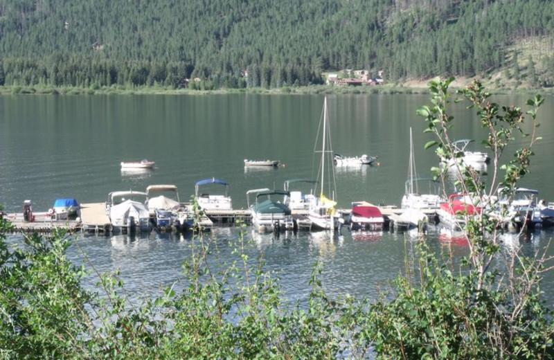 Boats on the Lake at Vallecito Resort