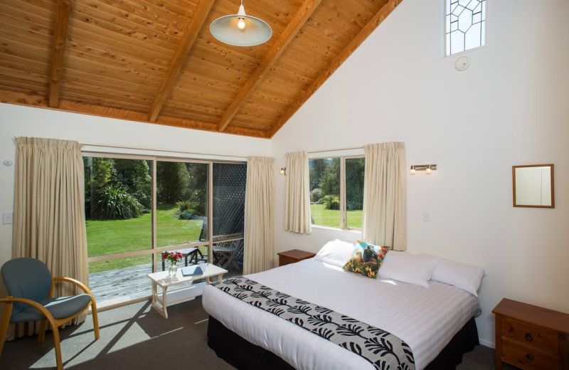 Guest room at Abel Tasman Marahau Lodge.