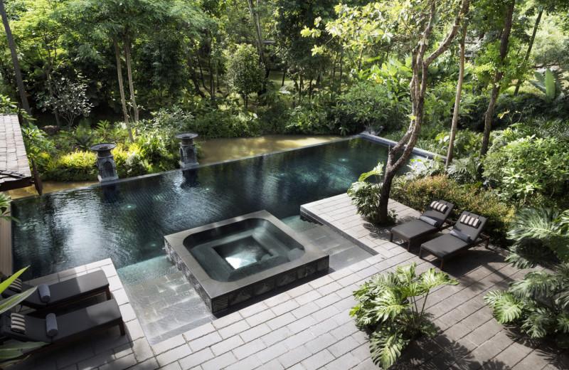Outdoor pool at Regent Resort - Chiang Mai at Mae Rim Valley.