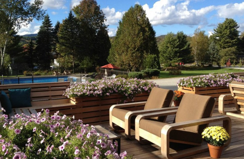 Outdoor pool at The Mountain Road Resort.