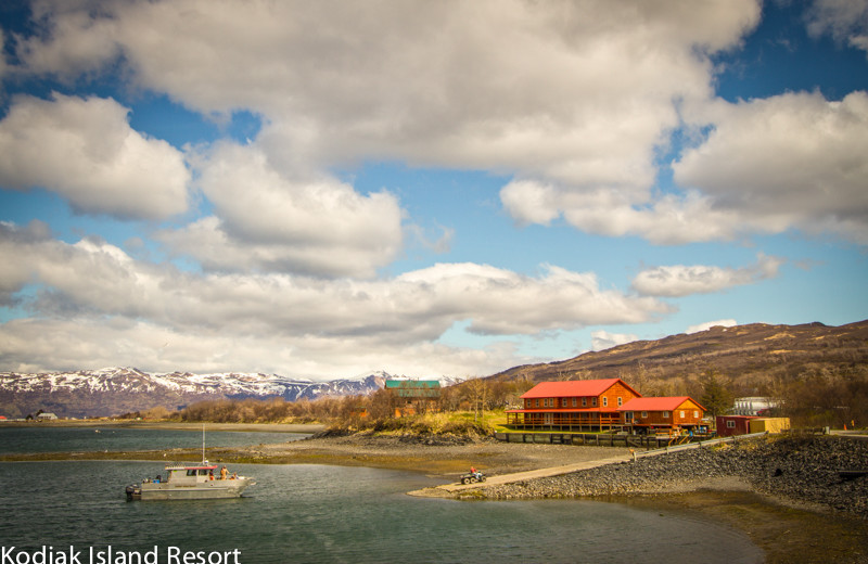 Exterior view of Alaska's Kodiak Island Resort.
