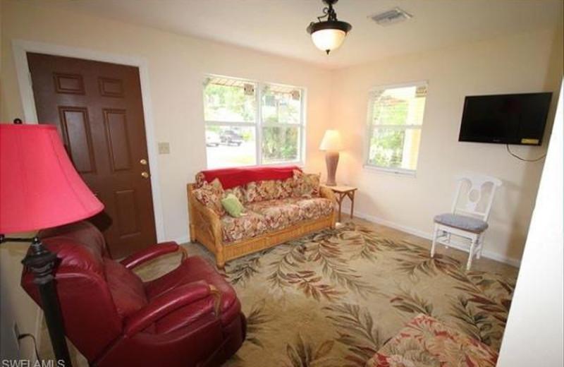 Rental living room at Tri Power Resort Rentals.
