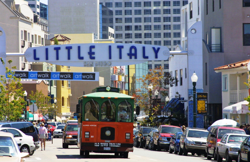 Little Italy near Town and Country Resort & Convention Center.