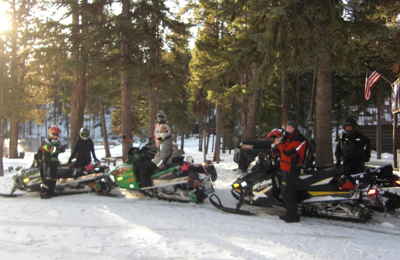 Snowmobiling at North Shore Lodge & Resort.
