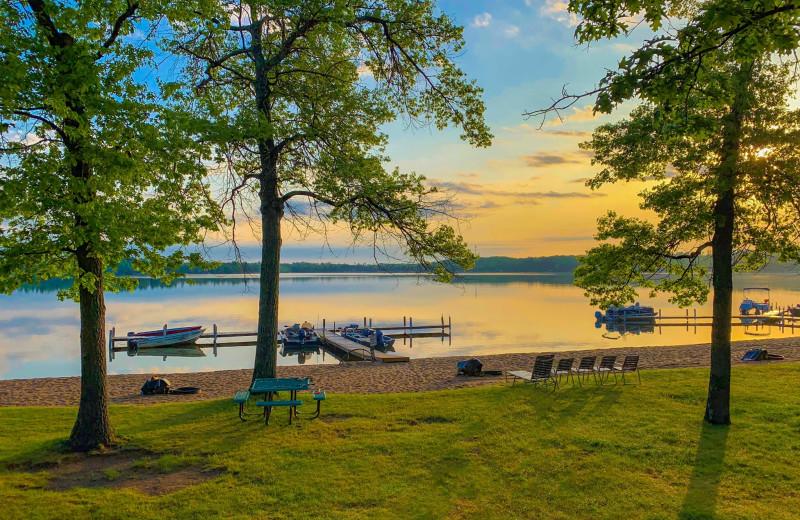 Lake view at Cragun's Resort and Hotel on Gull Lake.