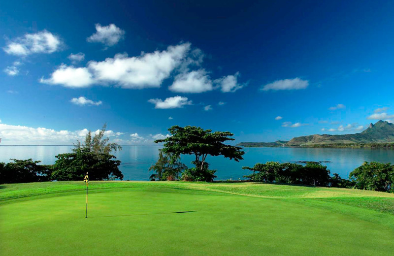 Golf course at Le Touessrok Hotel and Spa.