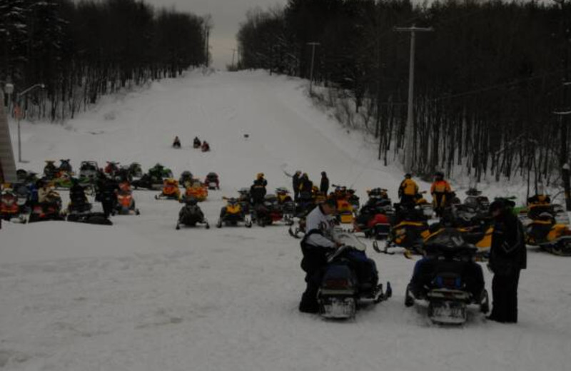 Snowmobiling group at S & J Lodge.