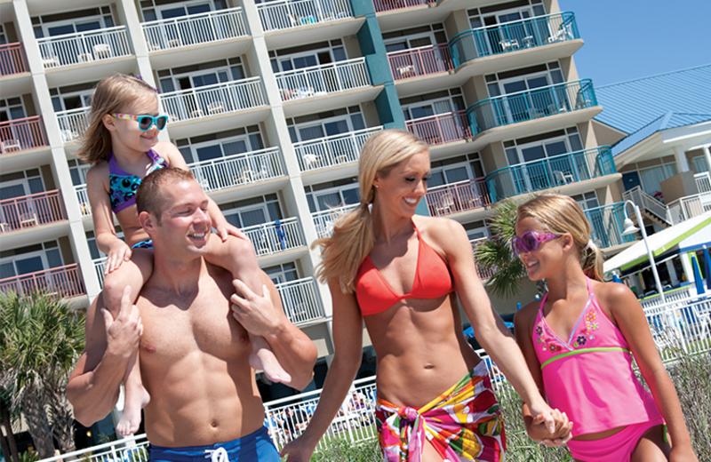 Family at Paradise Resort.