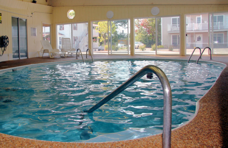 Indoor pool at Alouette Beach Resort.