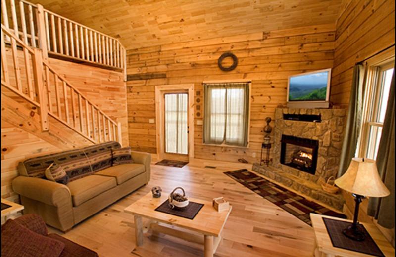Cabin Interior at Mountain Vista Log Cabins