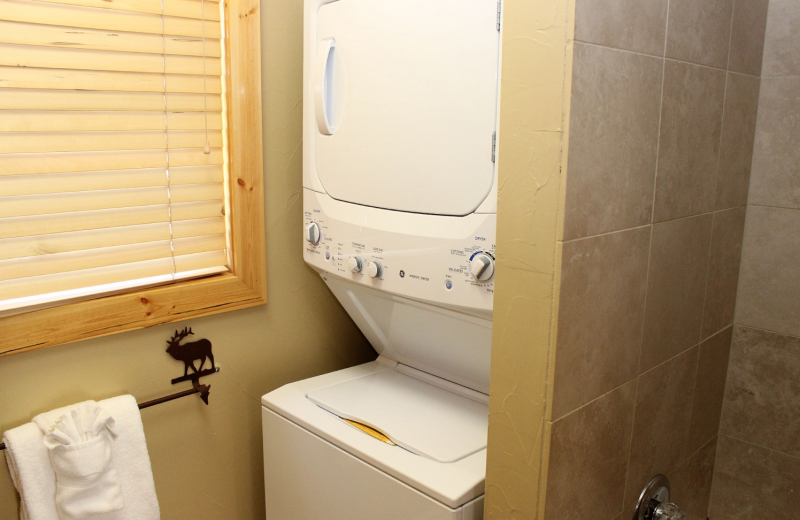 Condo laundry area at Bear Creek Vacation Condos.