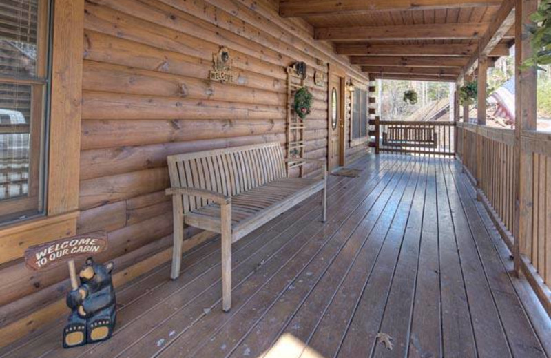 Cabin porch at Eagles Ridge Resort.